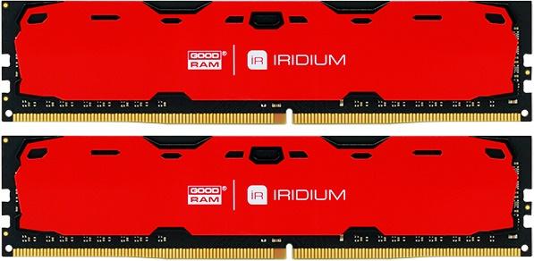 Купить Пам'ять GoodRam Iridium Red DDR4 2x4 ГБ (IR-R2400D464L15S/8GDC)