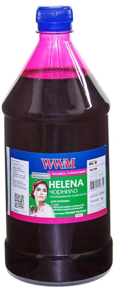 Чорнило WWM HU/M-4 HP Universal HELENA (1000g) Magenta  - купить со скидкой