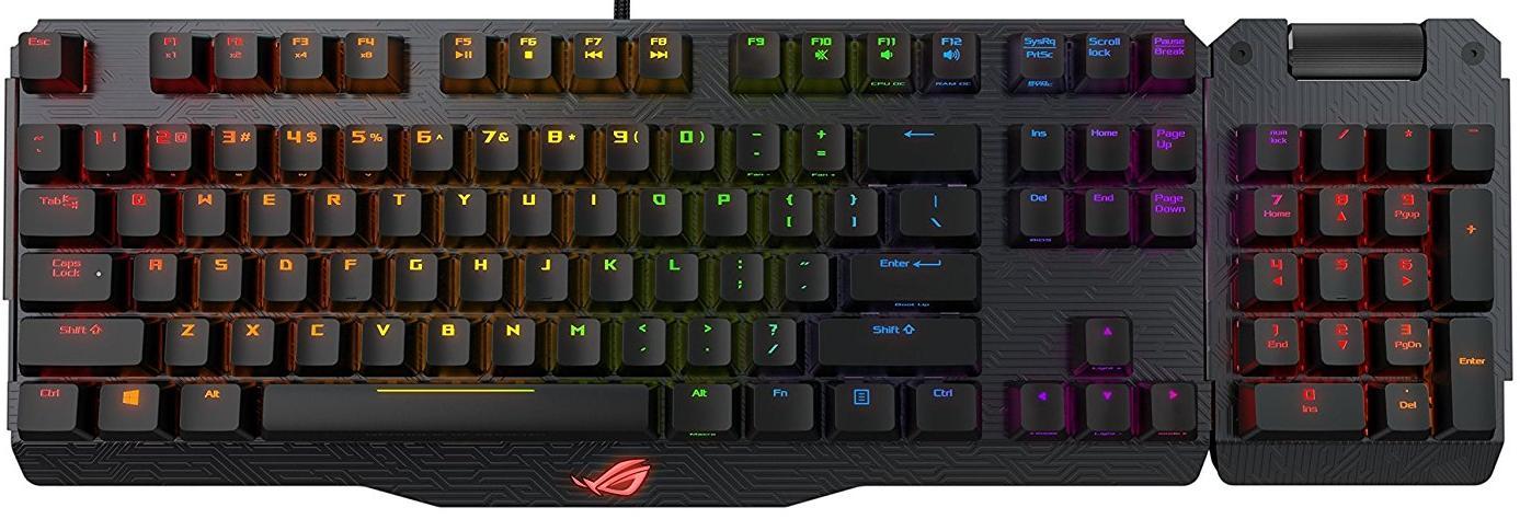 Клавіатури, комплекти, Клавіатура ASUS ROG Claymore MX Cherry Brown Black (90MP00E1-B0RA00)  - купить со скидкой