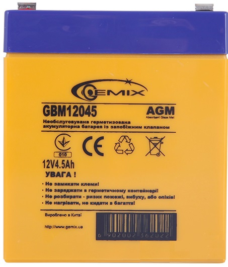 Купить Батарея для ПБЖ Gemix GBM12045/ 12V 4.5Ah