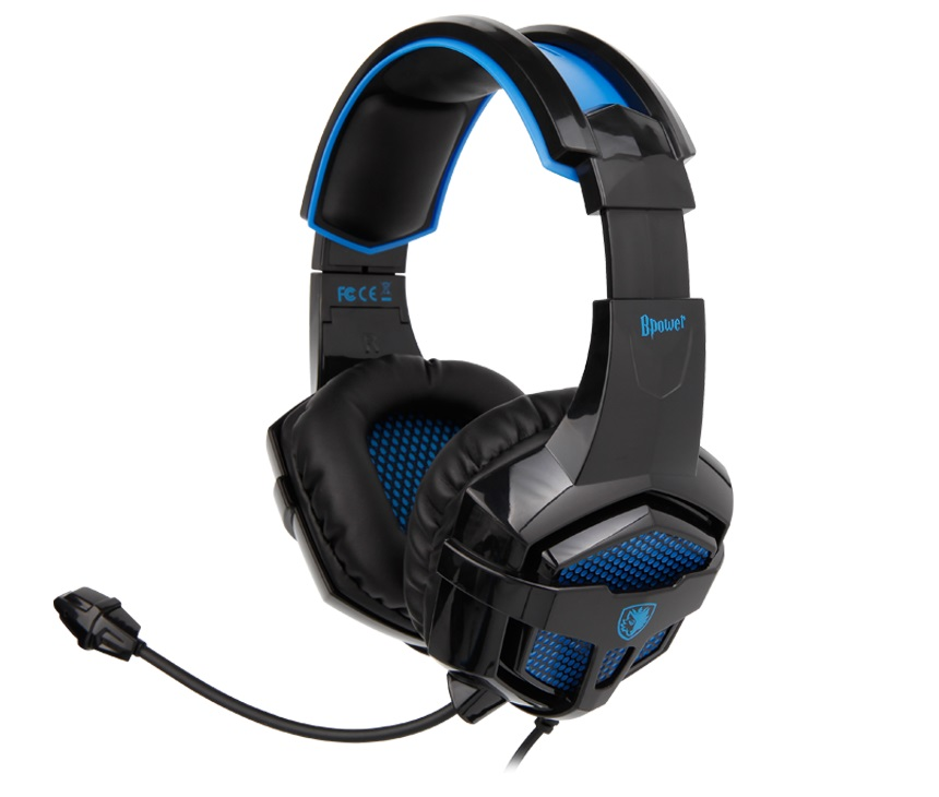 Купить Гарнітура Sades SA-739 BPower Black/Blue (SA739 Black/Blue)