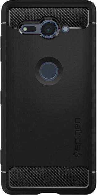 more photos 5a433 88c96 Чехол Spigen for Sony Xperia XZ2 Compact - Rugged Armor Black (G12CS23351)