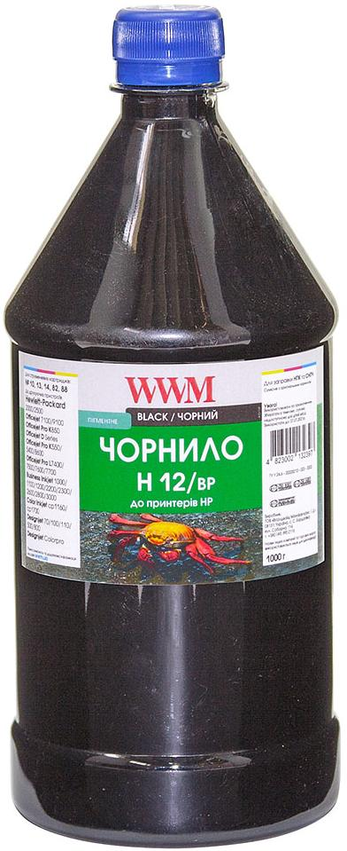 Купить Чорнило WWM for HP 10/11/12 (Black Pigment) 1000g (H12/BP-4)