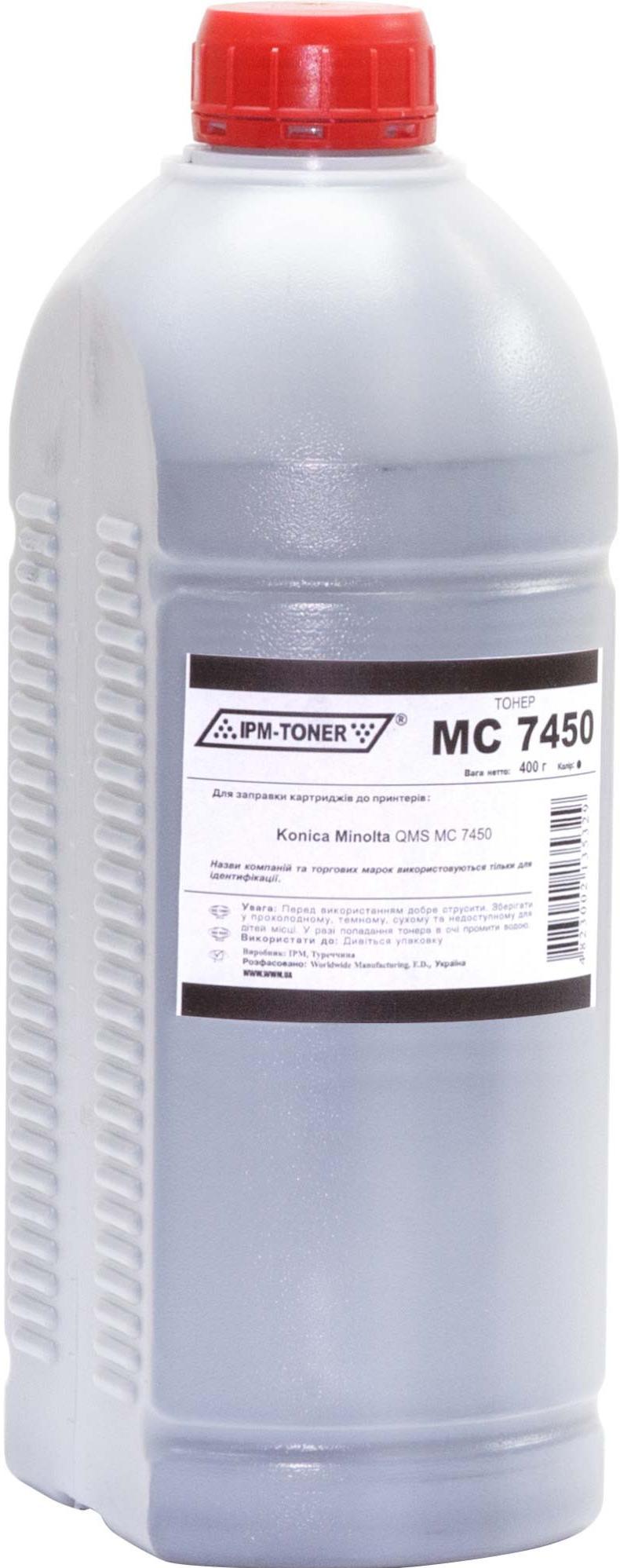 Купить Тонер IPM for Konica Minolta QMS MC7450 Black бутль 400g, TB115B-1