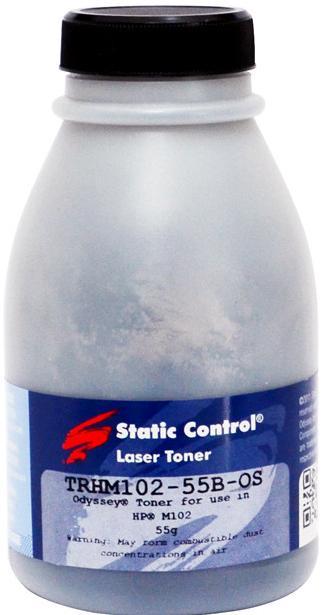 Купить Тонер SCC for HP LJ Pro M102 Black бутль 55g, TRHM102-55B-OS, Static Control