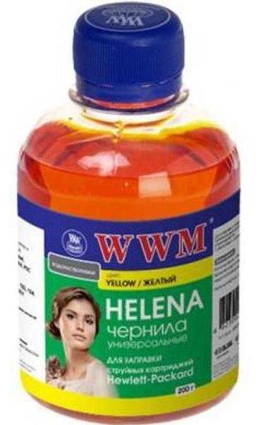 Купить Чорнило WWM HU/Y HELENA HP Universal жовте, HU/Y_200g