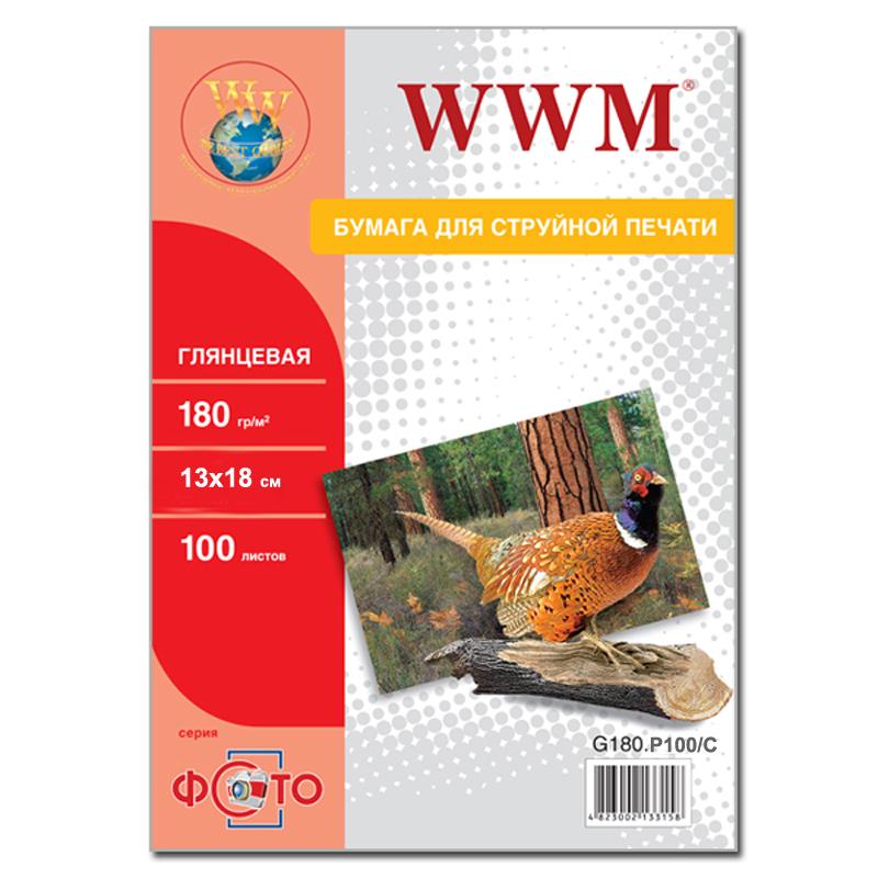Купить Фотопапір 13х18 WWM 100 аркушів (G180.P100/C)