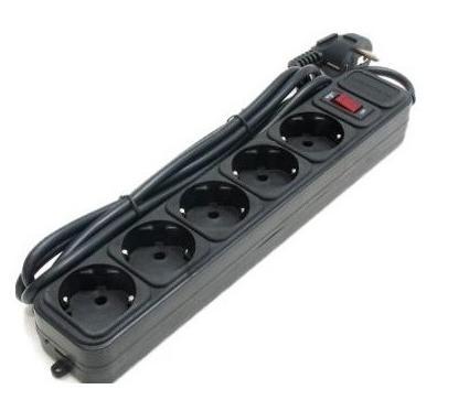 Купить Мережевий фільтр Gembird SPG5-G-6B 5/1.8