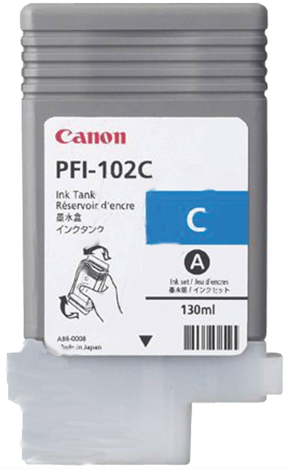 Купить Картридж Canon PFI-102C Canon iPF500, 600, 700 блакитний, 0896B001