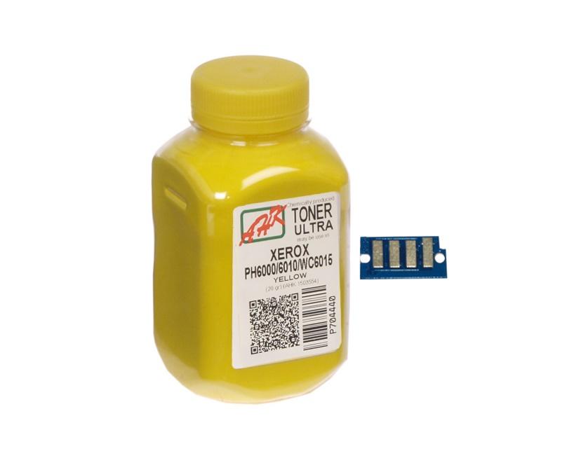 Купить Тонер AHK XEROX Phaser 6000/6010 жовтий + чіп, 1500258