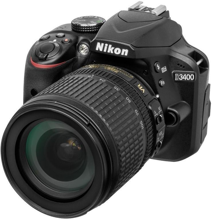 Купить Цифрова фотокамера дзеркальна Nikon D3400 kit AF-S DX 18-105 мм VR, VBA490K003