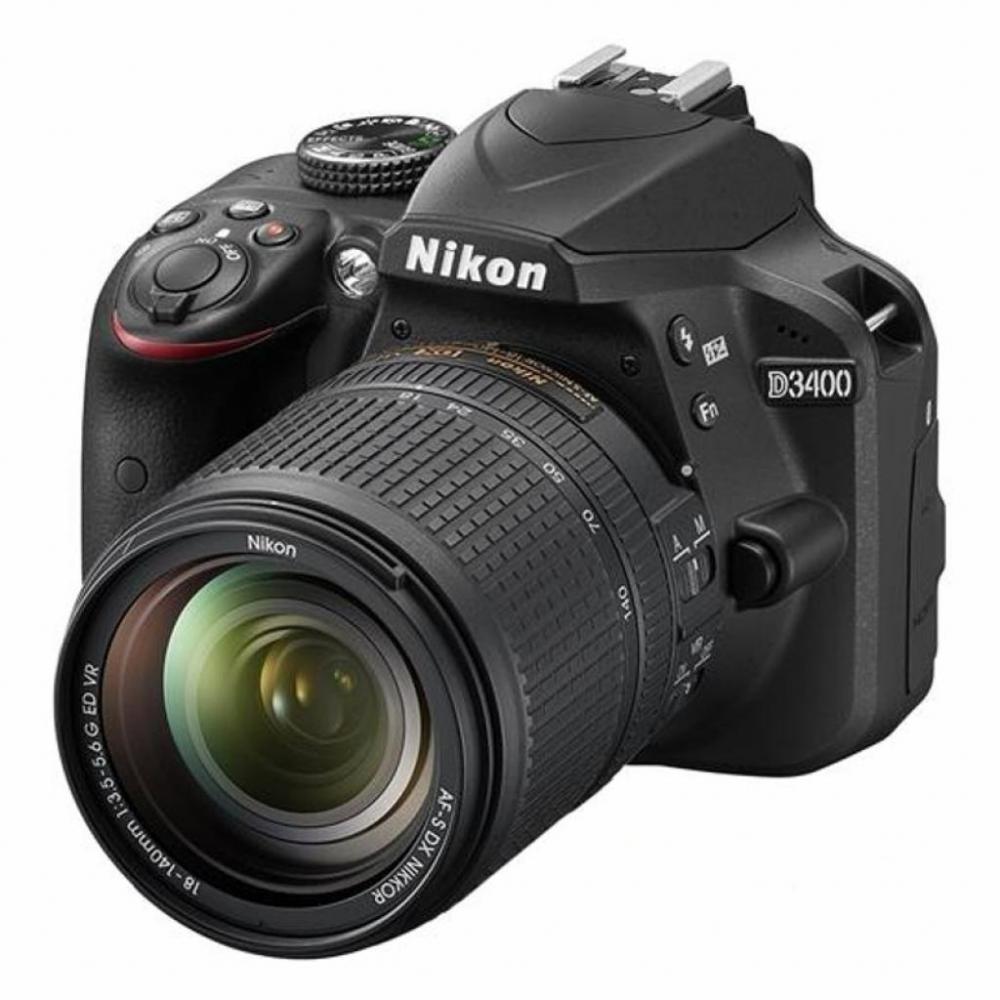 Купить Цифрова фотокамера дзеркальна Nikon D3400 kit 18-140 мм VR, VBA490KV01