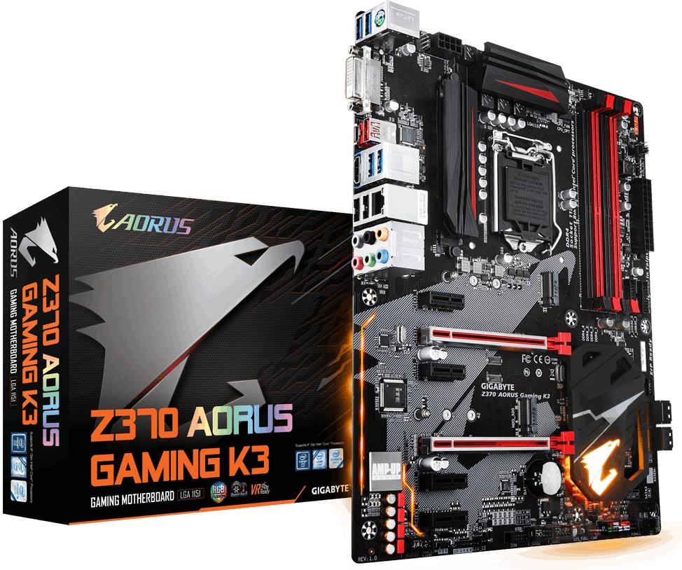 Материнська плата Gigabyte Z370 AORUS Gaming K3  - купить со скидкой