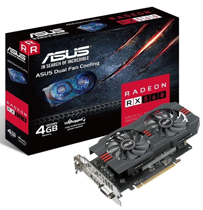 Купить Відеокарта ASUS RX 560 Evo (RX560-4G-EVO)