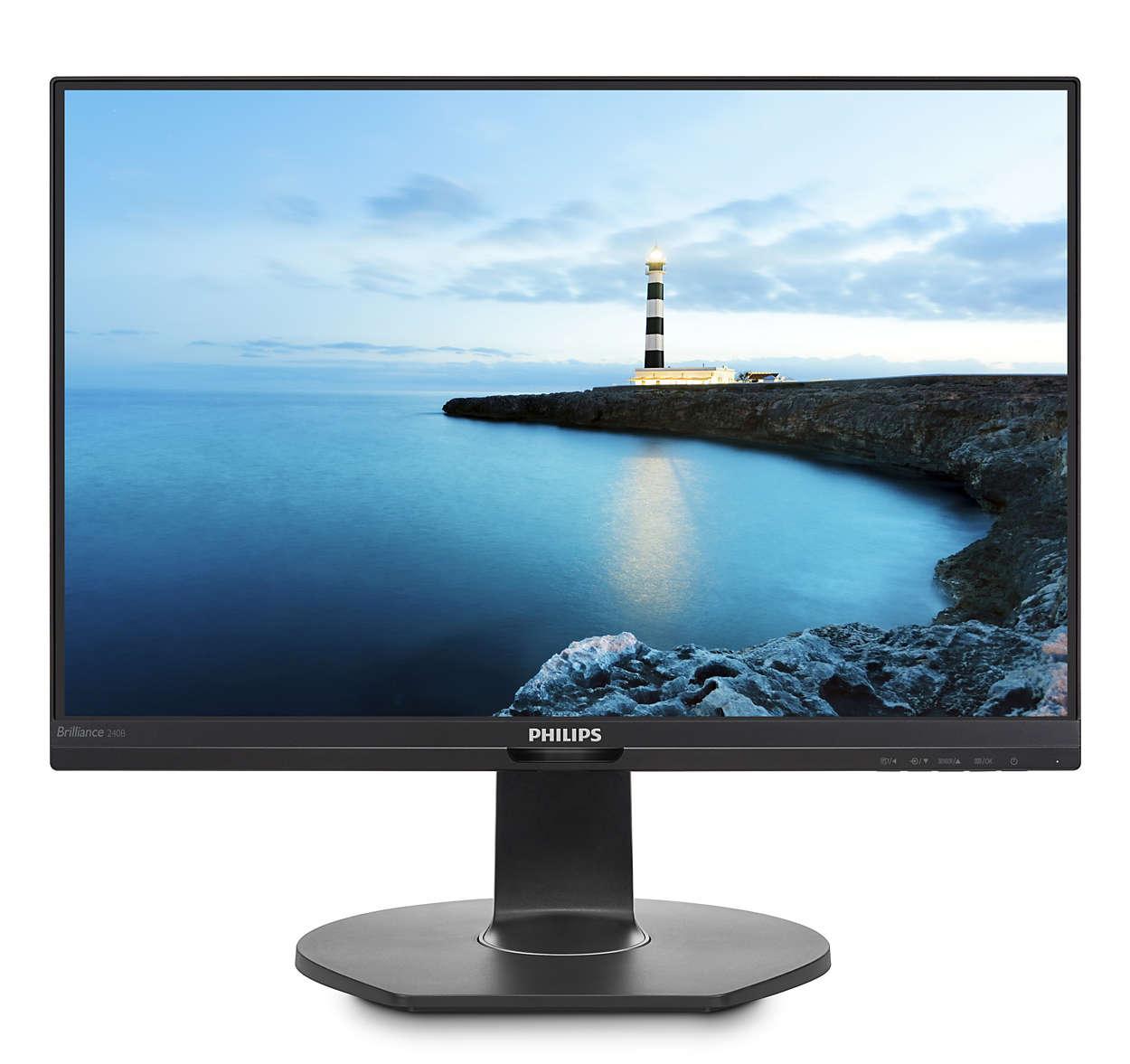 Купить Монітор Philips 240B7QPTEB Black (240B7QPTEB/00)