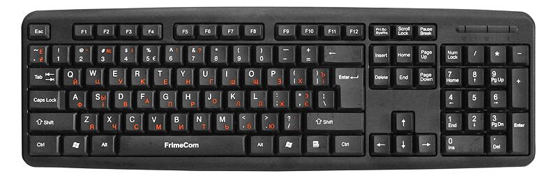 Клавіатура FRIMECOM FC-502 USB Black (FC-502-USB)  - купить со скидкой
