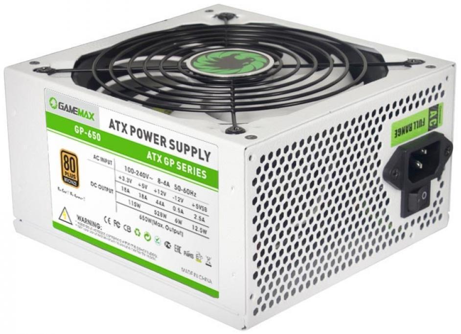 Купить Блоки живлення для ПК, Блок живлення Gamemax GP-650 650W (GP-650-White)