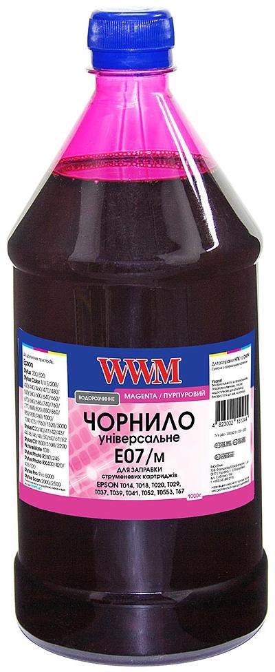 Купить Чорнило WWM for Epson Stylus C42/C48/C62 Magenta 1000g (E07/M-4)