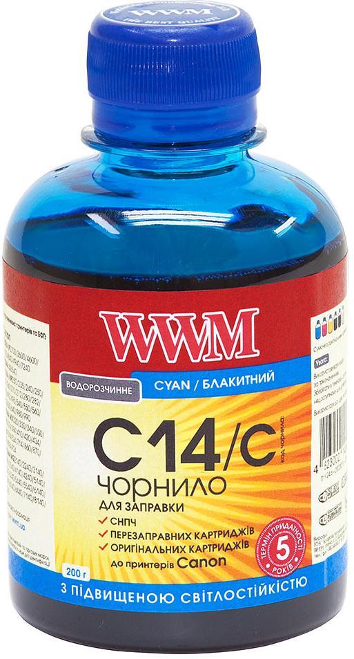 Купить Чорнило WWM for Canon CLI-451C/CLI-471C Cyan 200g C14/C світлостійке