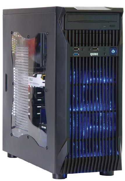 Корпус для ПК QUBE QB767 Black  (QB767_WBNU3)