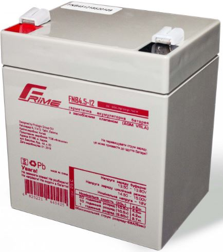 Купить Батареї для ПБЖ (UPS), Батарея для ПБЖ Frime FNB4.5-12 AGM