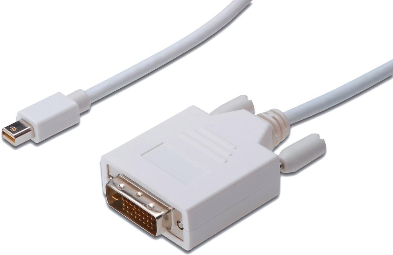 Купить Аксесуари для моніторів та відеокабелі, Кабель Digitus MiniDP / DVI 24-1 1m White (AK-340305-010-W)