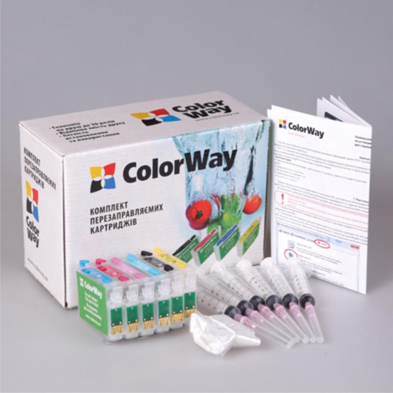 Купить Комплект перезаправних картриджів ColorWay P50RC-6.5 Epson P50, PX50, 650, 700
