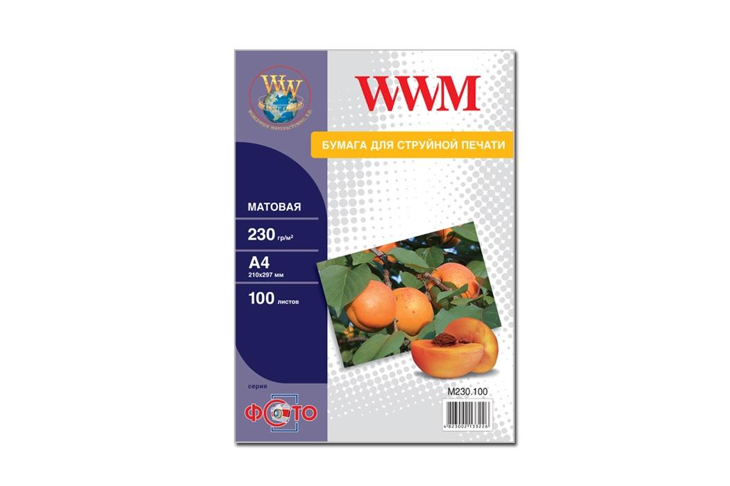 Купить Фотопапір А4 WWM 100 аркушів (M230.100)