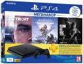 Ігрова приставка PlayStation 4 1Tb Чорна (HZD+Detroit+TLoU+PSPlus 3 М)