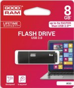 Флешка USB GoodRam Edge 8 ГБ (UEG3-0080K0R11) чорна