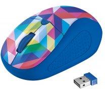 Мишка Trust Primo синя з геометричними фігурами