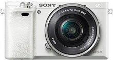 Цифрова фотокамера Sony Alpha 6000 kit 16-50 мм біла