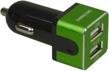 Автомобільний зарядний пристрій GREENWAVE CH-CC-231 2xUSB 3.1A чорний/зелений