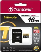 Карта пам'яті Transcend Micro SDHC 16 ГБ (TS16GUSDU3M)