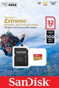 Карта пам'яті SanDisk Extreme Action Micro SDHC V30 A1 32 ГБ (SDSQXAF-032G-GN6AA)