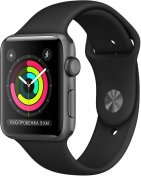 Смарт годинник Apple Watch Series 3 A1858 GPS 38mm Space Grey Aluminium with Black Sport Band (MQKV2GK/A)