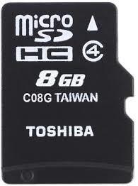 Карта пам'яті Toshiba Micro SDHC 8 ГБ (THN-M102K0080M4)