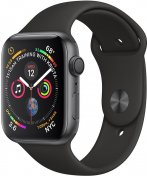 Смарт годинник Apple Watch Series 4 GPS 44mm Space Grey Aluminium with Black Sport Band