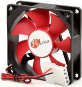 Вентилятор для корпуса ProLogix PF-SB80BR4 чорний/червоний