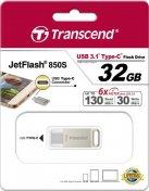 Флешка Type-C Transcend 850 32 ГБ (TS32GJF850S)
