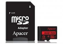 Карта пам'яті Apacer Micro SDHC 16GB AP16GMCSH10U5-R