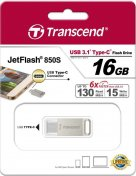 Флешка Type-C Transcend JetFlash 850 16 ГБ (TS16GJF850S)