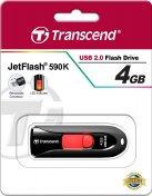 Флешка USB Transcend JetFlash 590 4 ГБ чорна