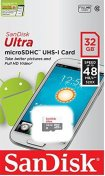 Карта пам'яті SanDisk МicroSDHC Ultra 32 ГБ (SDSQUNB-032G-GN3MN)