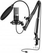 Мікрофон Fifine T670 USB Black з кріпленням для столу