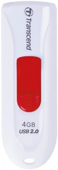 Флешка USB Transcend JetFlash 590 4 ГБ (TS4GJF590W) біла/червона
