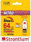Карта пам'яті STRONTIUM NITRO 566X Micro SDXC 64GB SRN64GTFU1T