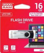 Флешка USB GOODRAM Twister 16 ГБ (UTS3-0160K0R11) чорна/срібляста упаковка
