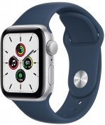 Смарт годинник Apple Watch Series SE GPS 40mm Silver Aluminium Case with Abyss Blue Sport Band (MKNY3)