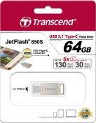 Флешка Type-C Transcend 850 64 ГБ (TS64GJF850S)
